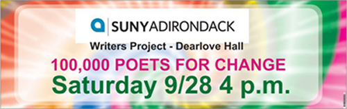 100 Thousand Poets for Change at SUNY Adirondack